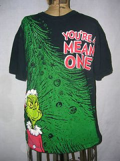 Dr. Seuss Mens Holiday Christmas T SHIRT Youre a Mean One   Mr