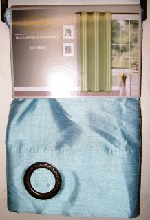 light blue sheer curtains in Curtains, Drapes & Valances