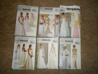 Sewing Patterns Womens Wedding Dress Gown Uncut