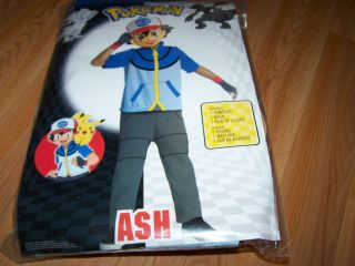 Small 6 Pokemon Ash Halloween Costume & Mask Dress Up Jumpsuit Gloves