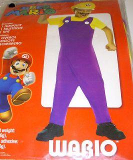 Super Mario Wario Jumpsuit Costume Dress up Child S 6 NIP