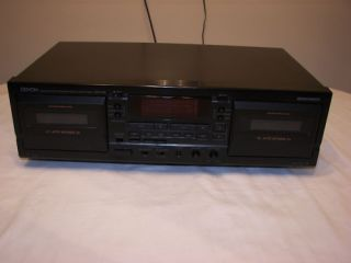 Denon DRW585 Stereo Dual Cassette Deck Tape Player Recorder