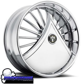 NEW 24 DUB SKIRTS SHOKKA S601 FLOATING CHROME WHEELS RIMS FLOATERS