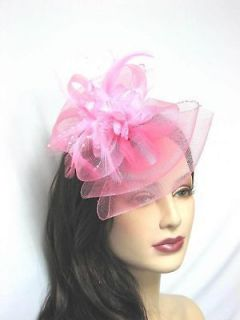 Bow Shape Party Hair Clip Great For Wedding Bridesmaid,Dull Pink