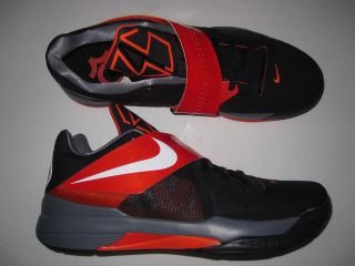 Mens Nike Zoom KD IV shoes sneakers new 473679 005 Kevin Durant Black