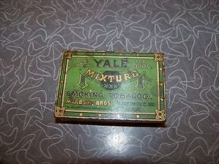 Antique Yale Mixture Smoking Tobacco Tin One Ounce Marburg Bros.