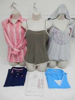lot of 6 Large Womens Shirts tops AE Perry Ellis Aeropostale lauren
