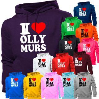 LOVE OLLY MURS HOODIE HOODY MENS WOMEN BOYS GIRLS KIDS OLLIE MURRS X
