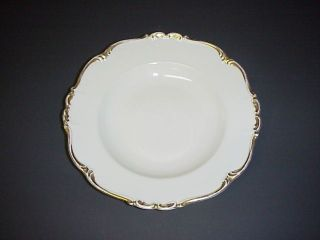 EDELSTEIN BAVARIA MARIA THERESIA RIMMED SOUP BOWL GOLD TRIM