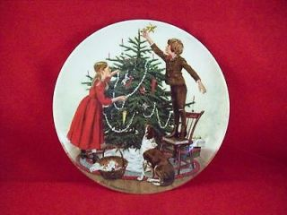 Exchange Christmas Holiday Plate by Edwin M. Knowles China Company