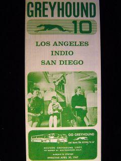 Western Greyhound Bus Schedule Los Angeles Indio San Diego April 30
