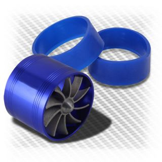 Air Intake 2.5 3 Aluminum Blue Gas Fuel Saver Fan Supercharge Turbo
