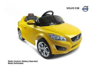 Yellow Volvo Ride on Toy Battery Operated Car For Kids