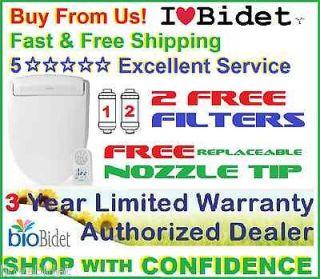 2FREE FILTERS+ FREE NOZZLE TIP+ Bio Bidet BB 400 ELONGATED or ROUND