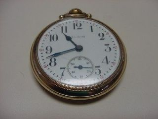 Gold Filled Elgin Natl. Watch Co. Working Pocket Watch Made in U.S.A.