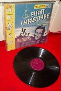 78 RPM Record THE FIRST CHRISTMAS Perry Como RCA 10 w Picture Sleeve