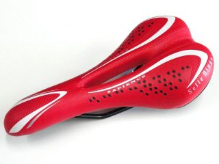 Selle Bingo Seat Saddle for Mountain Bike Road Bike or Fixie Red