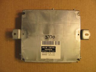 TOYOTA PRIUS ECU ECM ENGINE CONTROL COMPUTER PART NUMBER 89661 47102