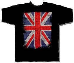 UNION JACK GREAT BRITIAN BRITISH FLAG BLACK T SHIRT