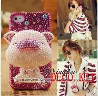 Newly listed 3D Pink Pig Bling DIY for cell Phone For iPhone 4 4S 5 5g