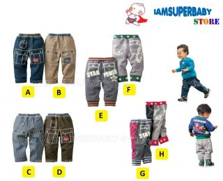 2012 WINTER DESIGN] BABY KID BOY GIRL STYLISH JEAN DENIM PANTS Age 1