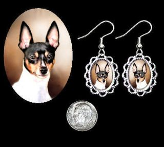 Toy Fox Terrier Silver Filigree Earrings PRETTY