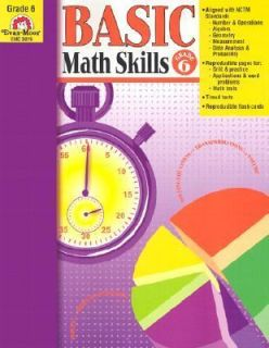 Basic Math Skills, Grade 6 by Evan Moor 2005, Paperback