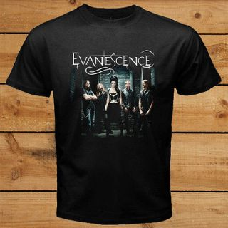 EVANESCENCE Concert Tour American Rock Band Amy Lee Black T Shirt Tee