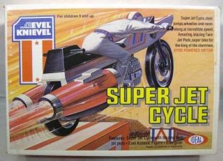 Evel Knievel Vintage Super Jet Cycle With Figure Ideal (MISB)C9