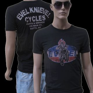 EVEL KNIEVEL VINTAGE T SHIRT Sz. S M L , Jackass, USA, Harley