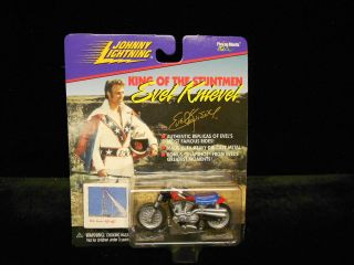 EVEL KNIEVEL JOHNNY LIGHTNING FAMOUS STUNT CYCLE MOC 1998 2451