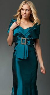 Daymor 1033 Teal Mother of the Bride Dress Formal Gown Size 4 to 20
