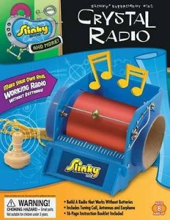 POOF SLINKY EXPERIMENT 151 CRYSTAL RADIO MINI LAB SCIENCE KIT BRAND