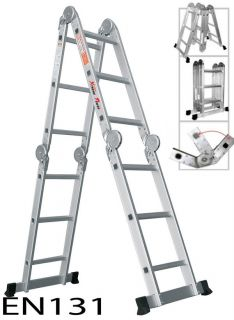 12.5ft Multi Fold Purpose Folding Aluminum Extension Ladder EN131