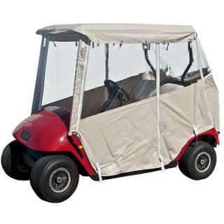 Tan Golf Cart Enclosure Cover for 2 Seater EZGO Golf Carts