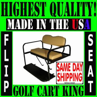EZGO TXT Golf Cart Rear Flip Back Seat Kit Cargo Bed