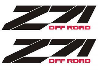CHEVY Z71 OFF ROAD SET 1500 4X4 RACING DECALS STICKERS