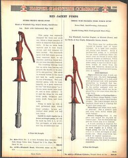 1923 AD Red Jacket Water Windmill Top Lift Pump Color Advertising Hand