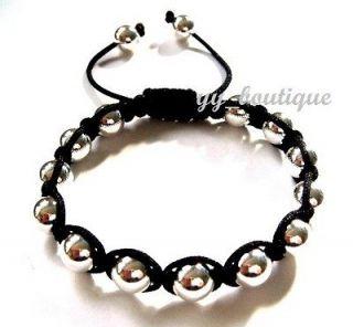 SHAMBALLA FRIENDSHIP BRACELET Weighty 925 Silver Beads Macrame UNIQUE