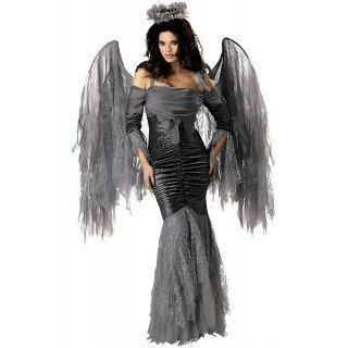 Fallen Angel Womens Gothic Dark Mistress Deluxe High Quality Halloween