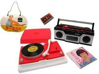 Re ment miniature radio cassette record player record rare