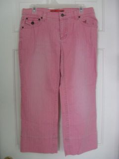 Mossissue Womens Capri Pink Jean Pants Size 11 MULTIPLES DISCOUNT