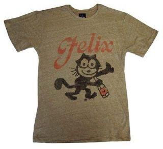 Felix The Cat Bottle Cartoon Vintage Style Junk Food Adult T Shirt Tee