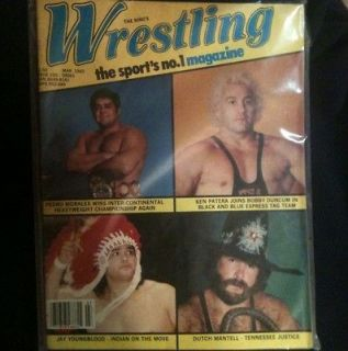RIng Wrestling Magazine March 1982 Dutch Mantel Pedro Morales WWE NWA