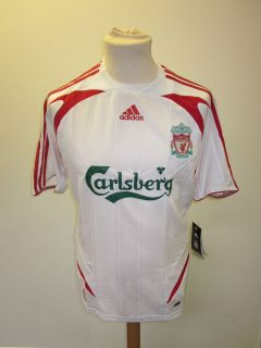 Liverpool FC adidas White/Red Away Shirt 2007 2008