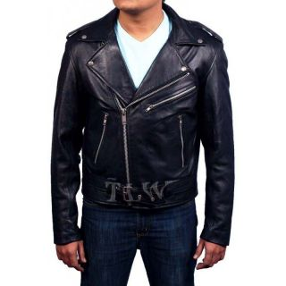 Hollywood Film Ghost Rider Leather Jacket Nicolas Cage Men Motorbike