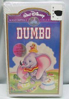 Dumbo VHS, 1998 Video Walt Disney Movie NEW and SEALED Clamshell Box