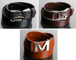 Dress Leather Buckle Belt   Deluxe Leather Belts / Width 1.1   1.3