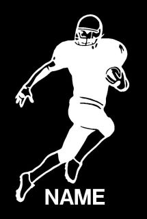 Football Player with Name Vinyl Sports Decal 8159