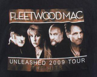 FLEETWOOD MAC Tour T Shirt SIZE L Large 2009 Rock Music Concert